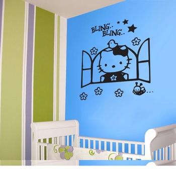 Medium Hello Kitty Wall Decal Kids Decal
