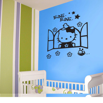 Large Hello Kitty Wall Decal Kids Decal