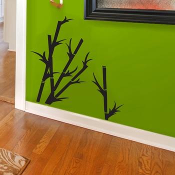 Small Short Bamboo Shoots Wall Decal Nature