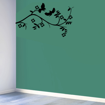 Small Pair of Bird Wall Decal Nature