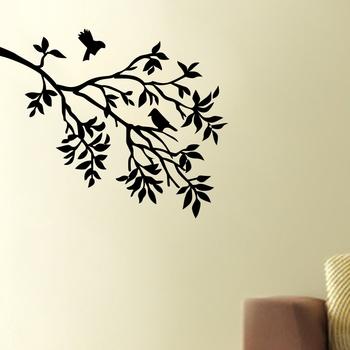 Medium Birds on Tree Wall Decal Nature