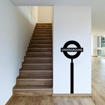 Medium Underground Sign Wall Decal Modern Graphic
