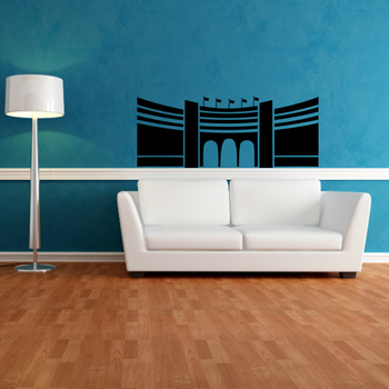 Small Red Fort Wall Decal Modern Graphic