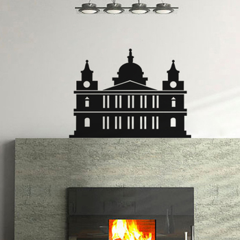 Small The Structure Wall Decal Modern Graphic