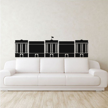 Medium Parliament Wall Decal Modern Graphic