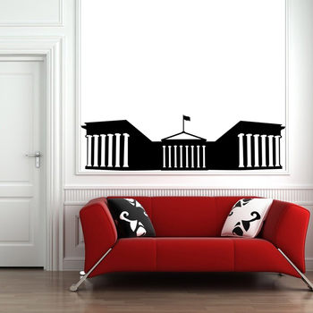 Small Parthenon Wall Decal Modern Graphic