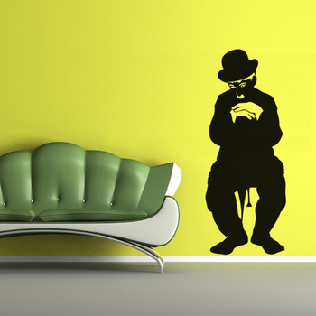 Large Charlie Chaplin Wall Decal Modern Graphic