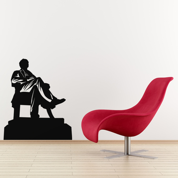 Large Abraham Lincoln Wall Decal Modern Graphic