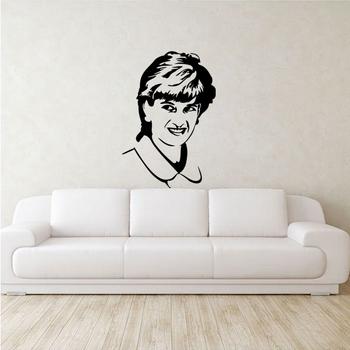 Medium Lady Diana Wall Decal Modern Woman