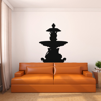 Large Fountain Wall Decal Modern Graphic