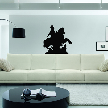 Small Warrior Wall Decal Modern Graphic