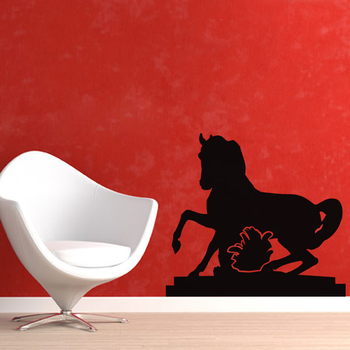 Small Galloping Horse Wall Decal Birds and Animal