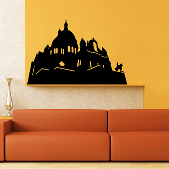 Medium Historic Structure Wall Decal Modern Graphic