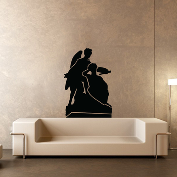 Small Winged Angles Wall Decal Modern Graphic