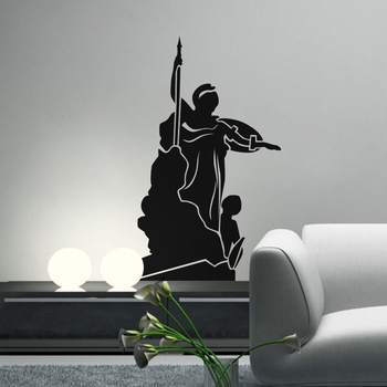 Small Athena Wall Decal Modern Graphic