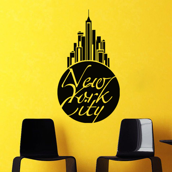 Small New York City Wall Decal Modern Graphic