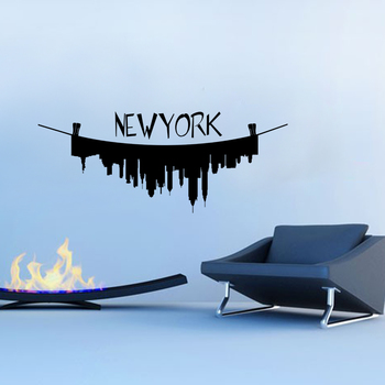 Medium New York On the Line Wall Decal Modern Graphic