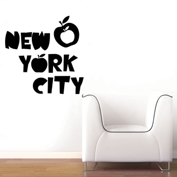 Large Apple New York Wall Decal Modern Graphic