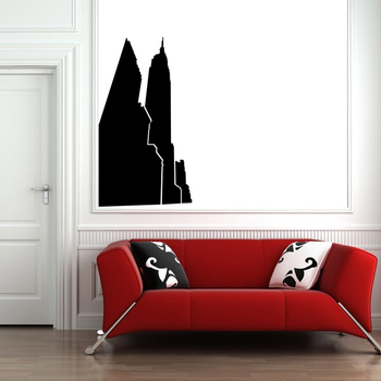Large New York Skyscrapers Wall Decal Modern Graphic
