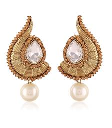 Exclusive Designer Lcd Stone Gold Finishing Dangle Earrings