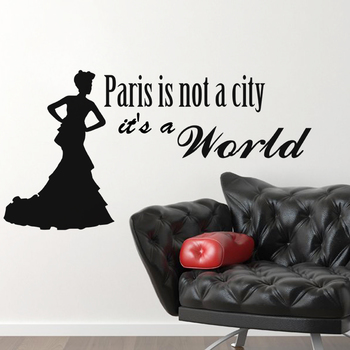 Medium Paris, It's a World Wall Decal Quotes