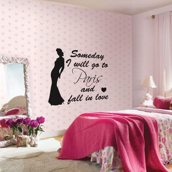 Small Fall In Love In Paris Wall Decal Quotes