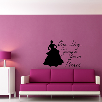 Large Live in Paris Wall Decal Quotes