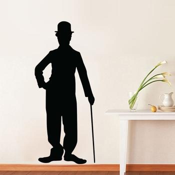 Medium Charlie Chaplin Silhouette Wall Decal Modern Graphic