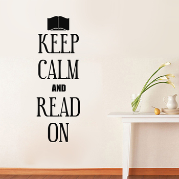 Medium Keep Calm And Read On Wall Decal Quotes