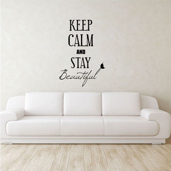 Large Keep Calm Stay Beautiful Wall Decal Quotes