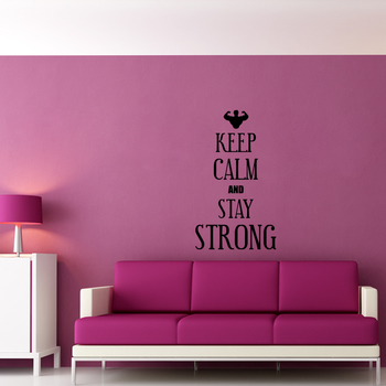 Large Keep Calm And Stay Younger Wall Decal Quotes