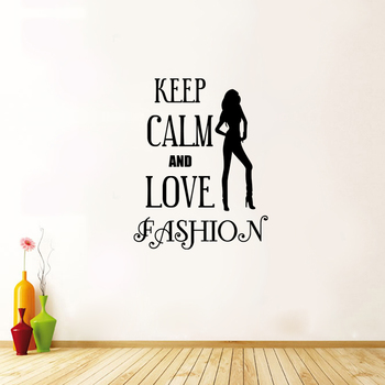 Small Keep Calm and Love Fashion Wall Decal Quotes