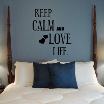 Large Keep Calm and Love Life Quotes