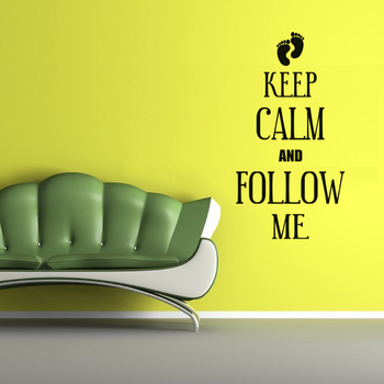 Small Keep Calm And Follow Me Wall Decal Quotes