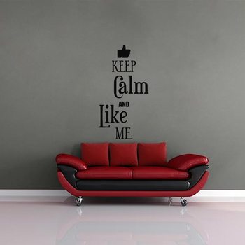 Large Keep Calm And Like Me Wall Decal Quotes