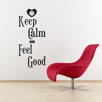 Medium Keep Calm And Feel Good Wall Decal Quotes