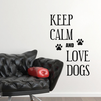 Large Keep Calm And Love Dogs Wall Decal Quotes