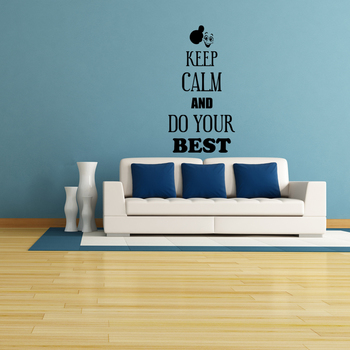 Large Keep Calm And Do Your Best Wall Decal Quotes