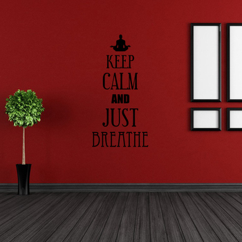 Small Keep Calm And Just Breathe Wall Decal Quotes