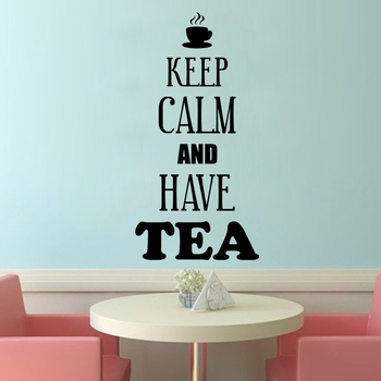 Large Keep Calm And Have Tea Wall Decal Quotes