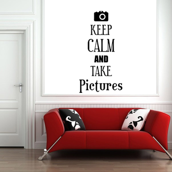 Small Keep Calm And Take Pictures Wall Decal Quotes