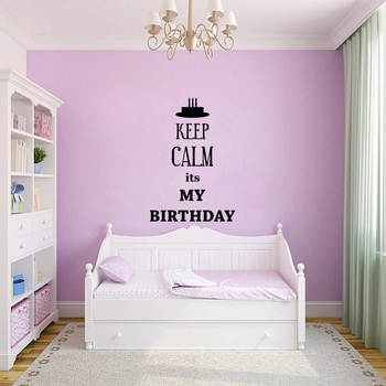 Small Keep Calm Its My Birthday Wall Decal Quotes