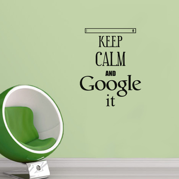 Small Keep Calm And Google It Wall Decal Quotes