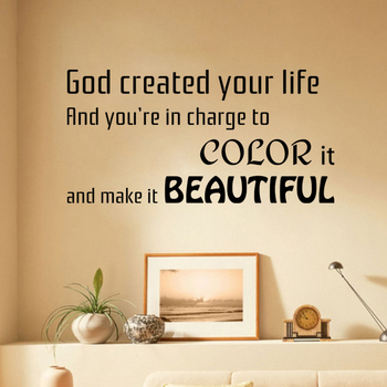 Medium Colour Life Make it Beautiful Wall Decal Quotes