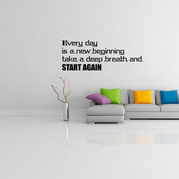 Medium Start Again Wall Decal Quotes