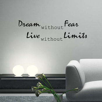 Large Dream Without Fear Wall Decal Quotes