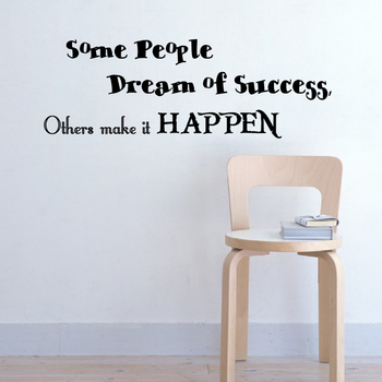 Medium Make Success Happen Wall Decal Quotes