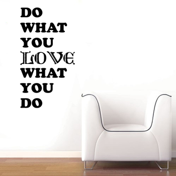 Large Love What You Do Wall Decal Quotes