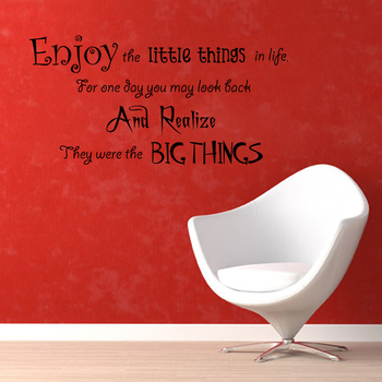 Large Enjoy Little Things Wall Decal Quotes