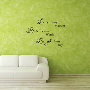 Small Live, Love Laugh Wall Decal Quotes